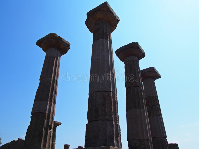 Le temple d'Athéna photo libre de droits