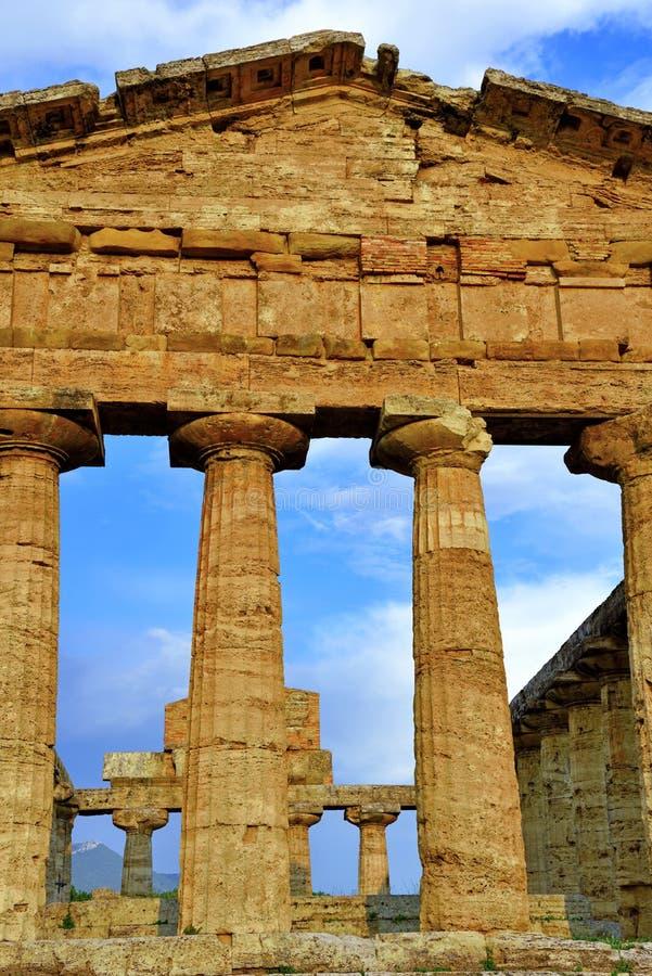 Le temple d'Athena Paestum Italy photos stock