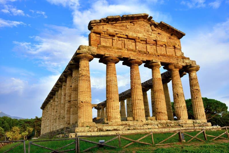 Le temple d'Athena Paestum Italy photo libre de droits