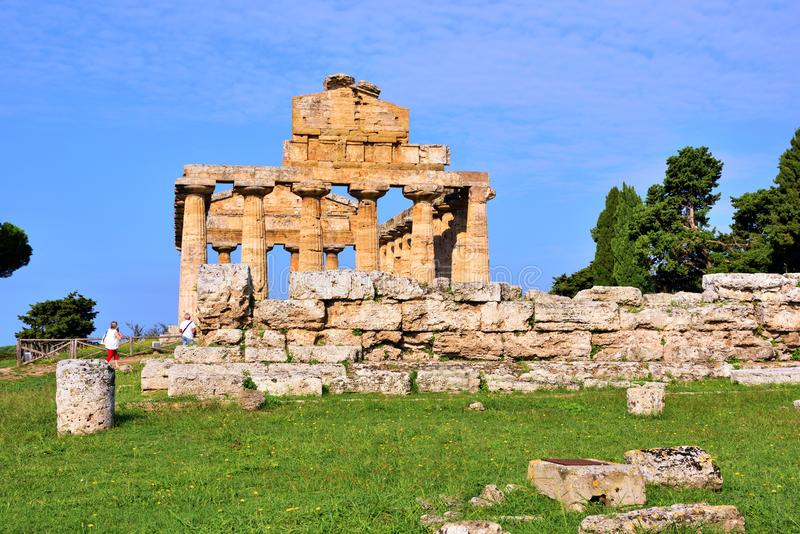 Le temple d'Athena Paestum Italy images stock