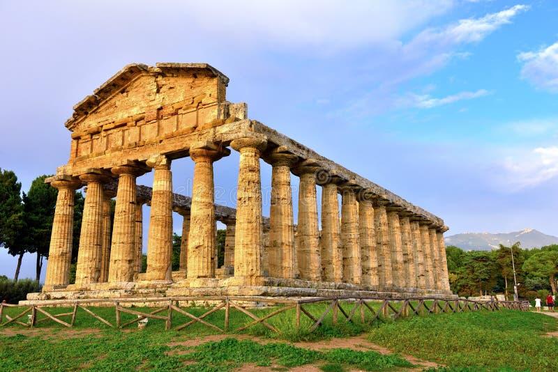 Le temple d'Athena Paestum Italy image stock