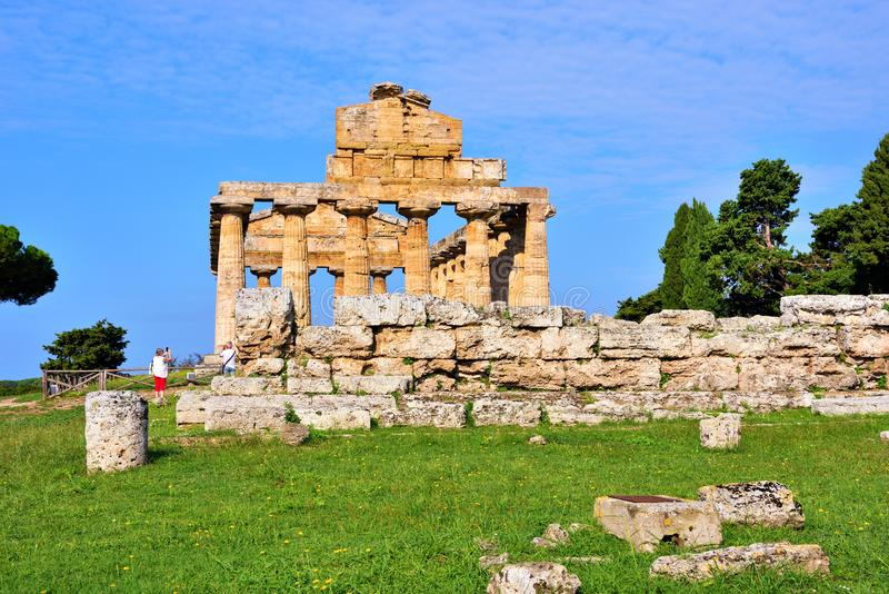 Le temple d'Athena Paestum Italy photographie stock libre de droits
