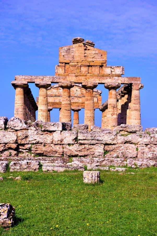 Le temple d'Athena Paestum Italy photos libres de droits