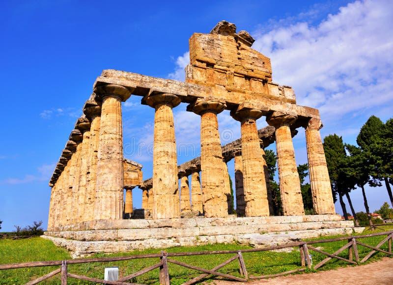 Le temple d'Athena Paestum Italy image libre de droits
