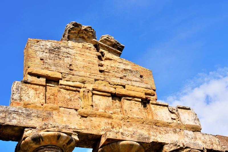 Le temple d'Athena Paestum Italy photo stock