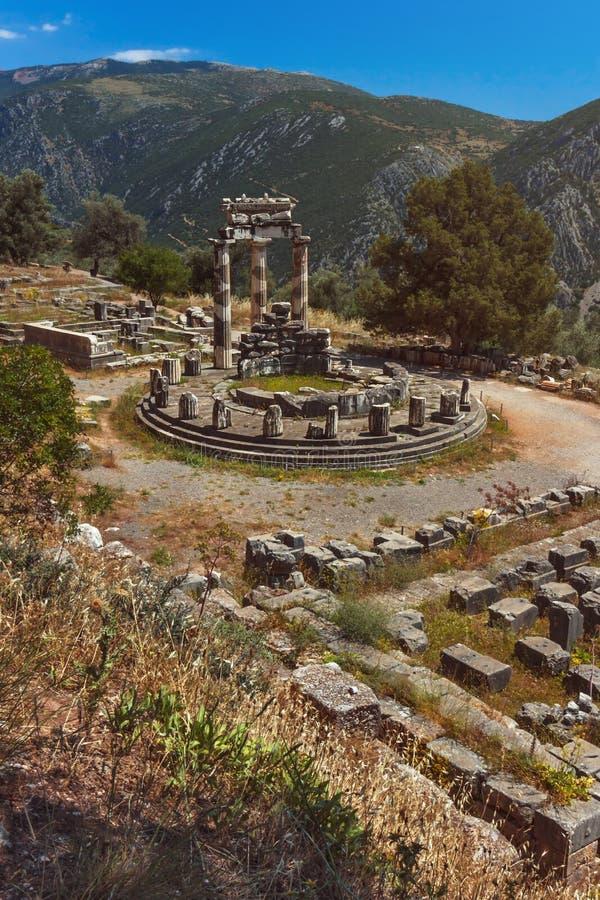 Le temple d'Athena Pronea-Delphi-Greece photos libres de droits