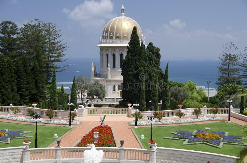 Le temple de Bahai à Haïfa, Israël photos libres de droits