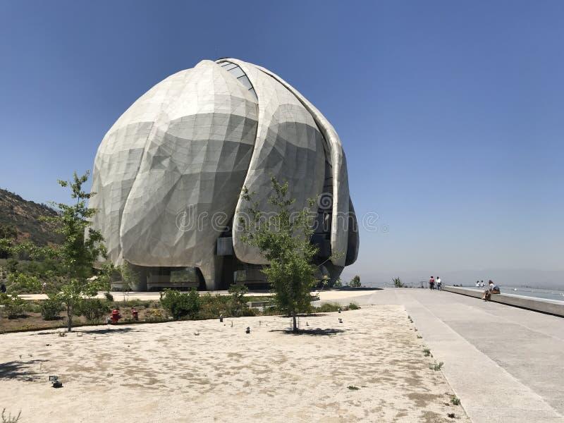 Le temple de Bahai pour l'Amérique du Sud au Chili photo libre de droits
