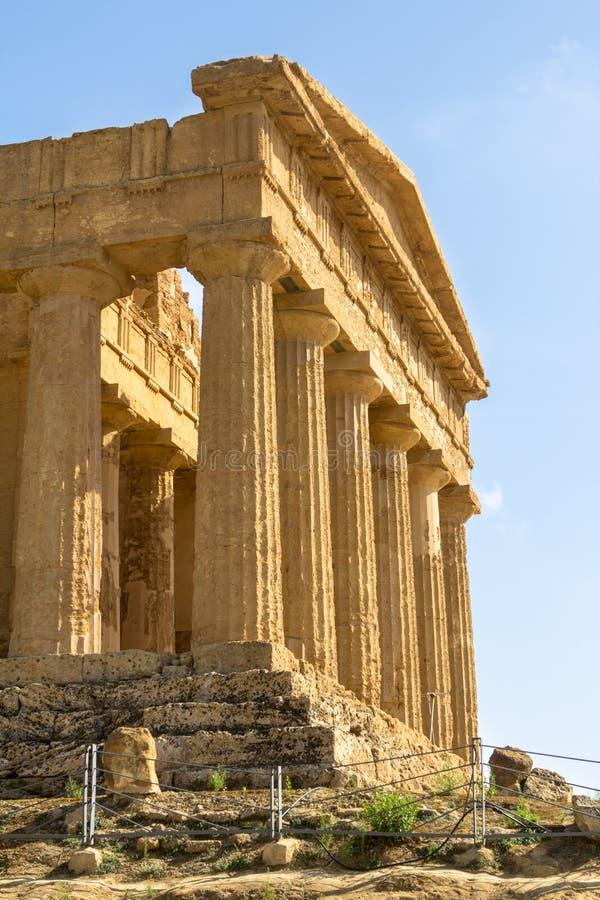Le temple de Concordia, Agrigente, Italie images libres de droits