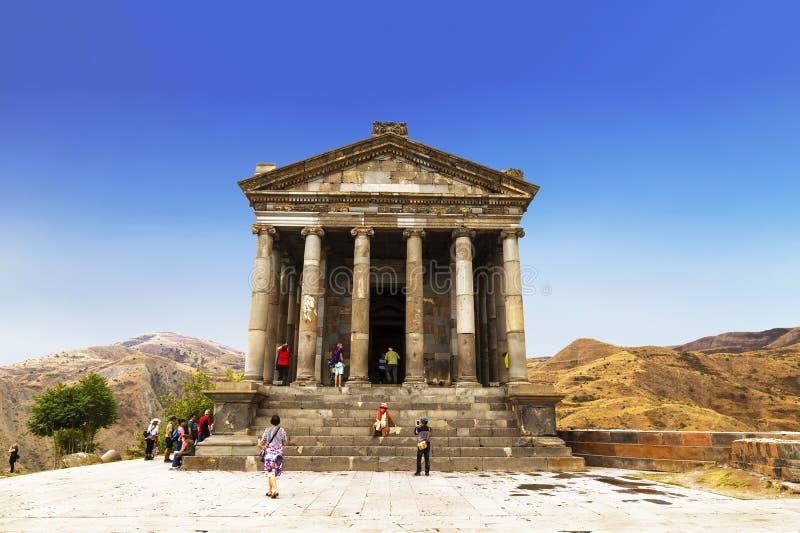 Le temple de Garni - un temple pa?en en Arm?nie a ?t? construit dans l'annonce du 1er si?cle photographie stock libre de droits