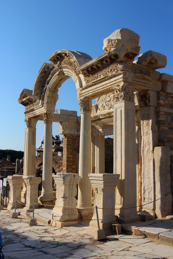 Le temple de Hadrian images libres de droits