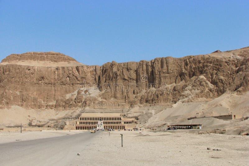 Le temple de Hatshepsut, Cisjordanie, Louxor, Egypte image stock