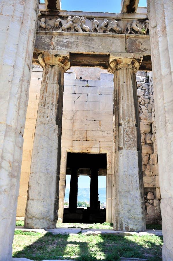 Le temple de Hephaestus à Athènes photographie stock