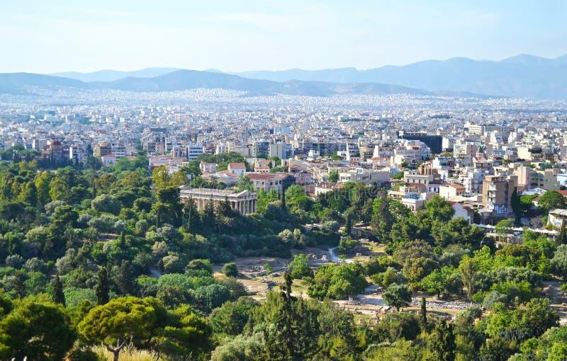 Le temple de Hephaestus à Athènes Grèce images libres de droits