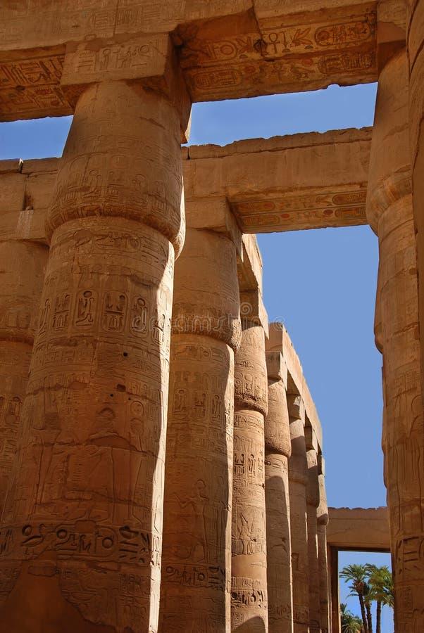 Le temple de Karnak en Egypte photo stock