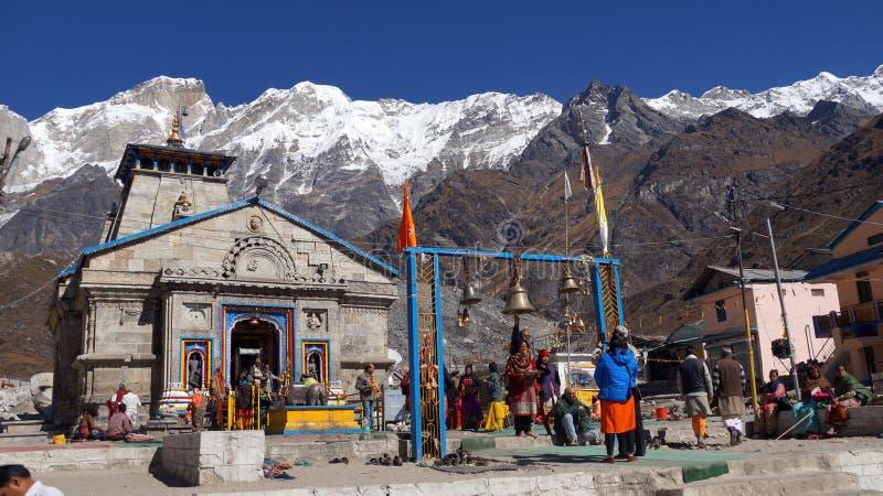 Le temple de Kedarnath images libres de droits