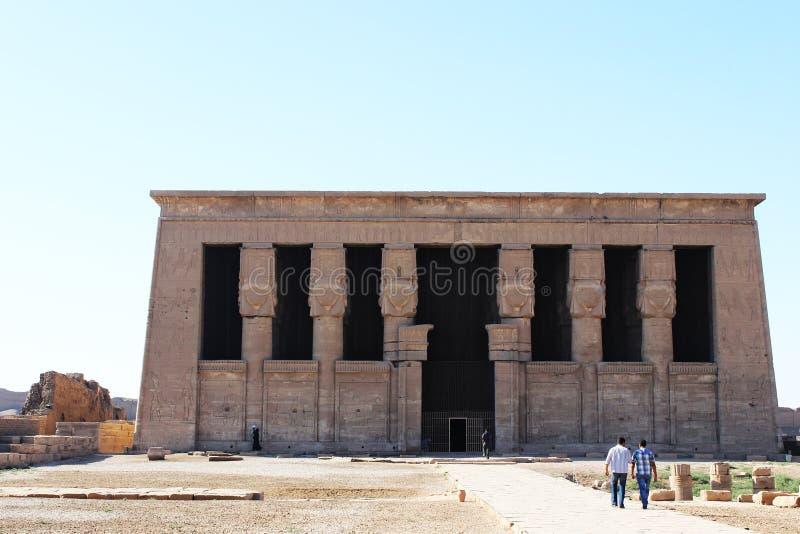 Le temple de la déesse Hathor photo libre de droits