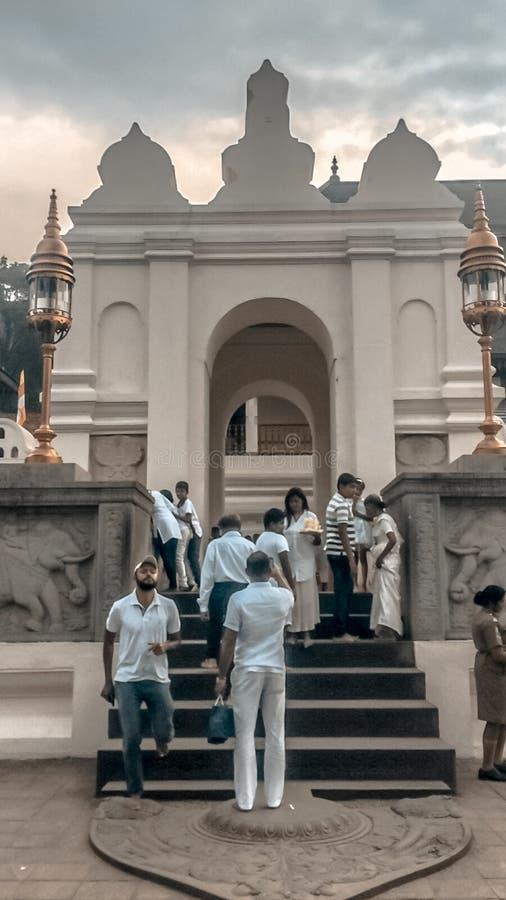 Le temple de la dent images libres de droits