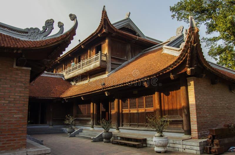 Le temple de la littérature à Hanoï photos libres de droits