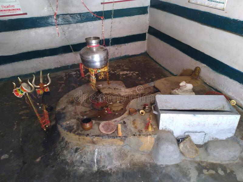 Le temple de Lord Shiva - Shivlinga images libres de droits