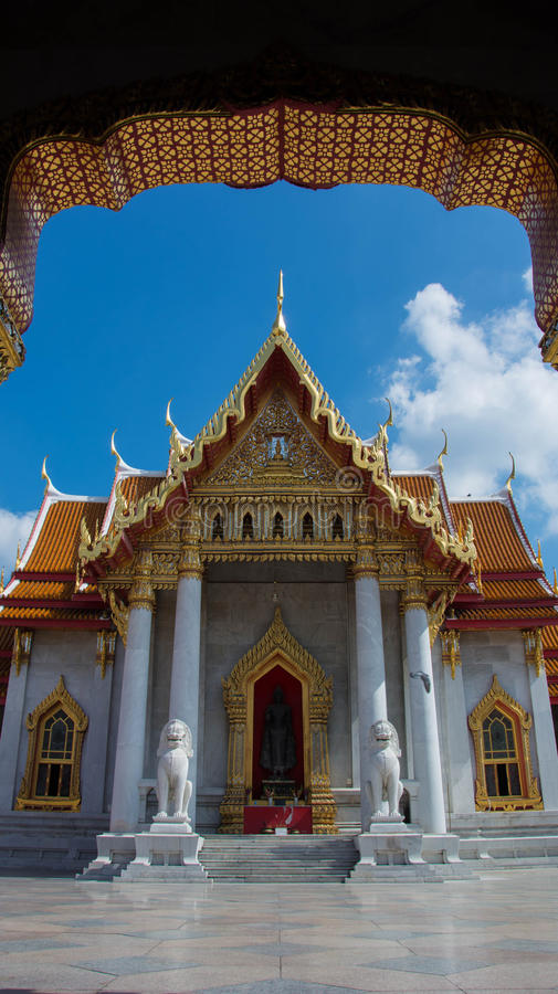 Le temple de marbre, Wat Benchamabopitr Dusitvanaram Bangkok THAIL photos libres de droits