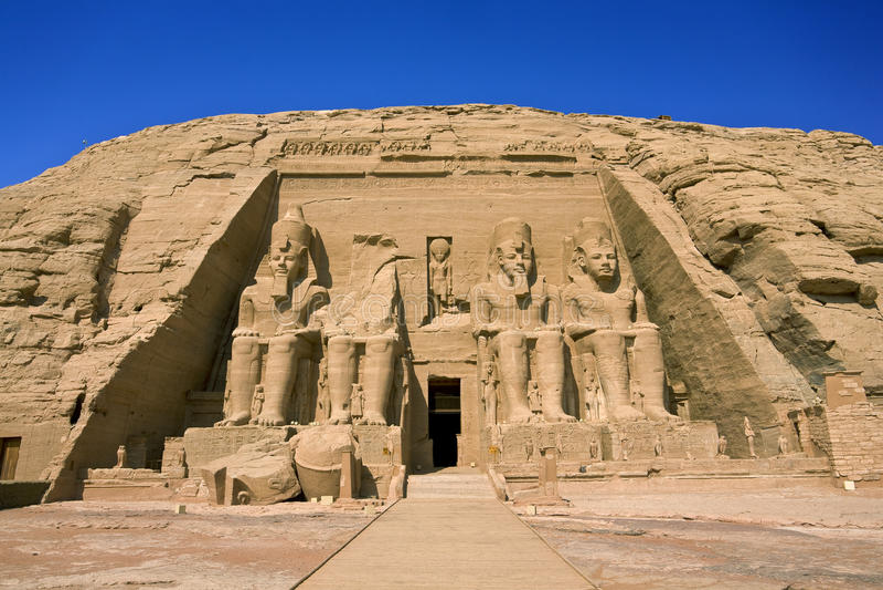 Le temple de Rameses II chez Abu Simbel images libres de droits