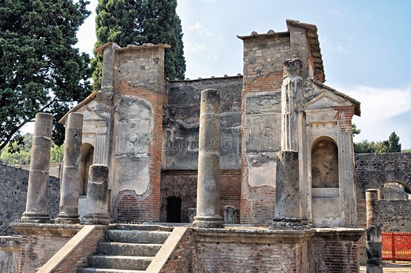 Le temple de ruines à Pompeii image stock