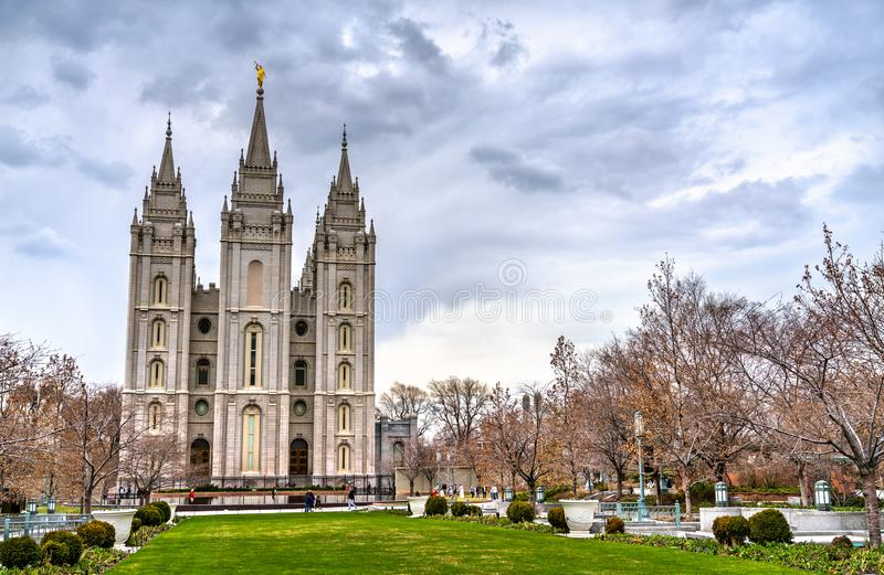 Le temple de Salt Lake dans Salt Lake City, Utah photos libres de droits