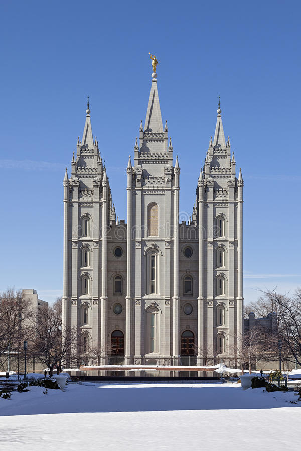 Le temple de Salt Lake en Utah images libres de droits