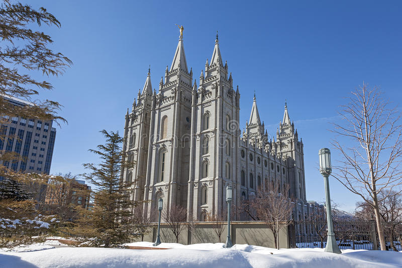 Le temple de Salt Lake en Utah photographie stock libre de droits