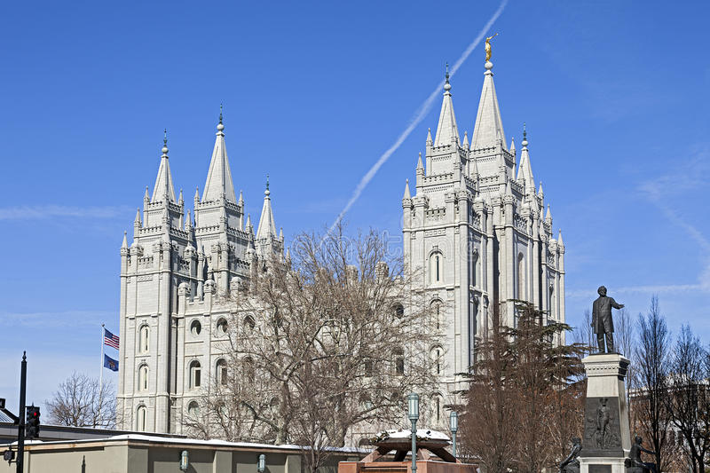 Le temple de Salt Lake en Utah images stock