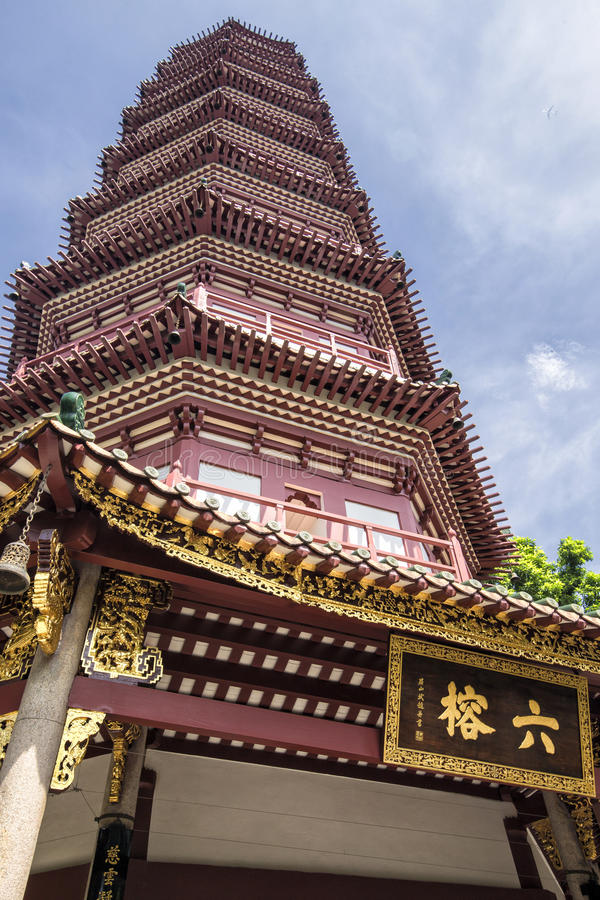 Le temple de six banians dans Guangzhou, Chine image stock
