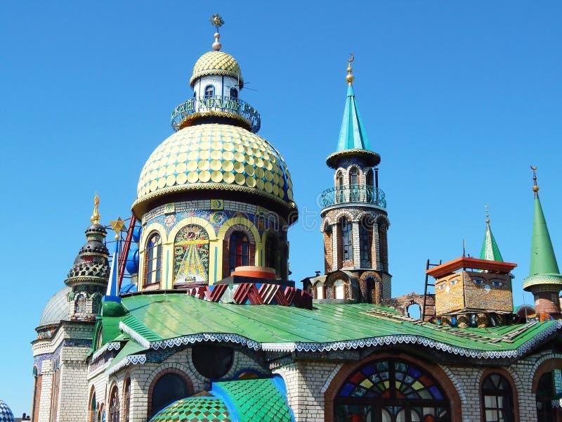 Le temple de toutes les religions dans le ` de Kazan en le Tatarstan, Russie photographie stock libre de droits