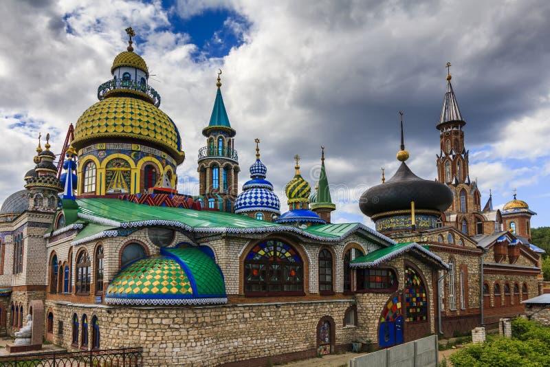Le temple de toutes les religions ou le temple universel est un complexe architectural à Kazan, Russie image libre de droits