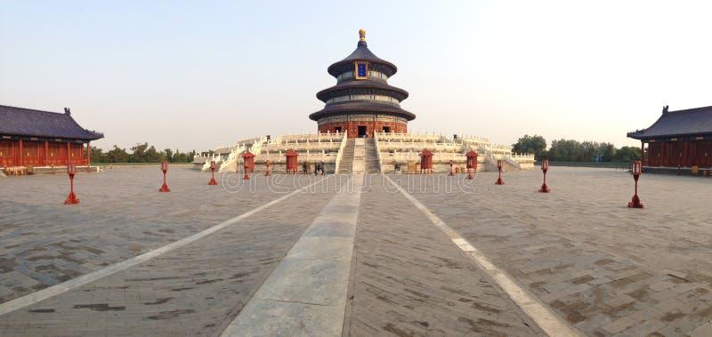 Le temple du Ciel dans le panorama de Pékin photo stock