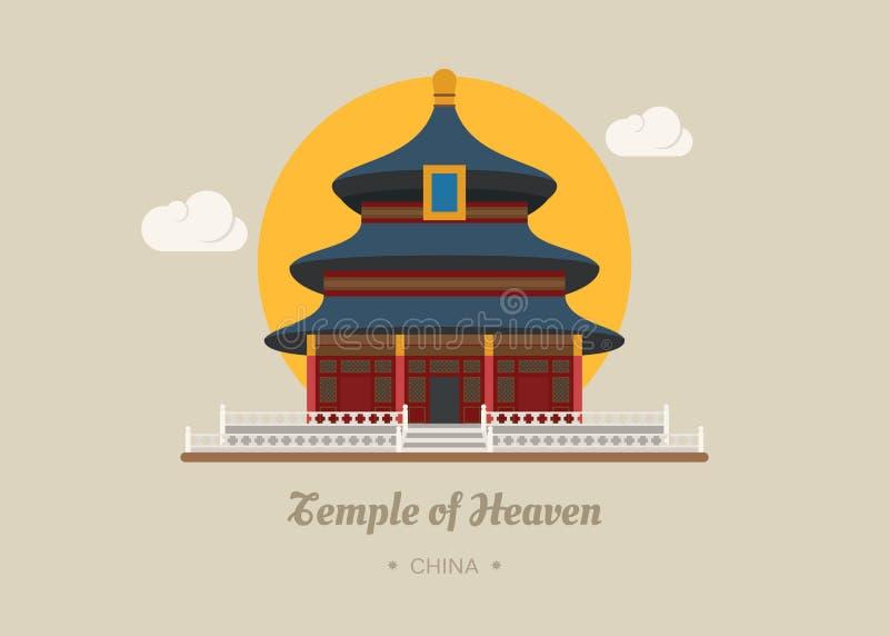 Le temple du Ciel, porcelaine illustration libre de droits