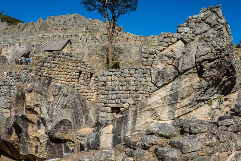 Le temple du condor Machu Picchu ruine le pe péruvien des Andes Cuzco photographie stock libre de droits