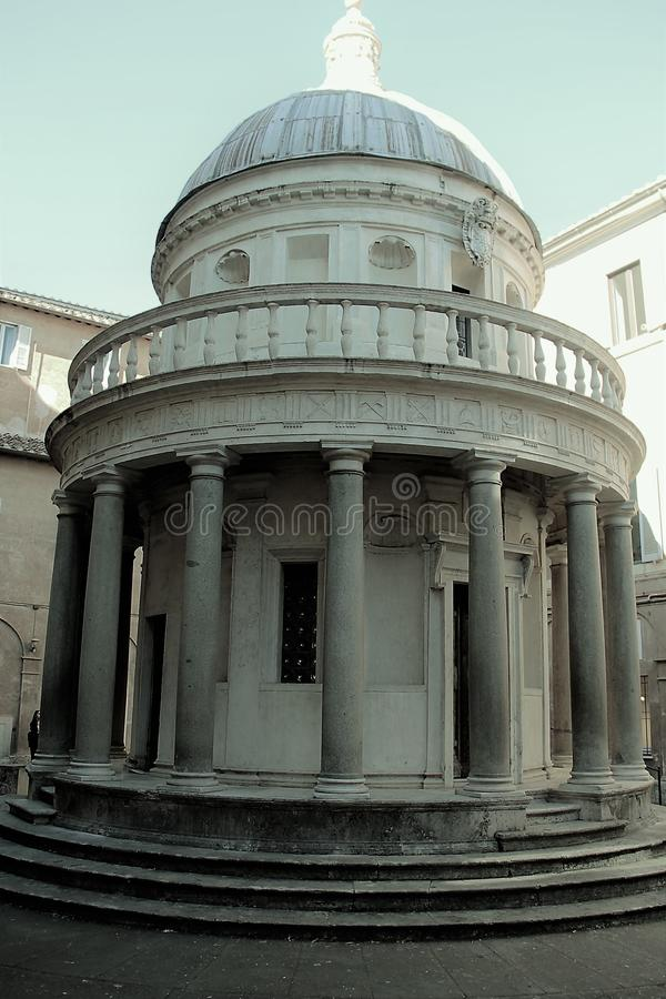 Le temple du ` s de Bramante à Rome photo libre de droits