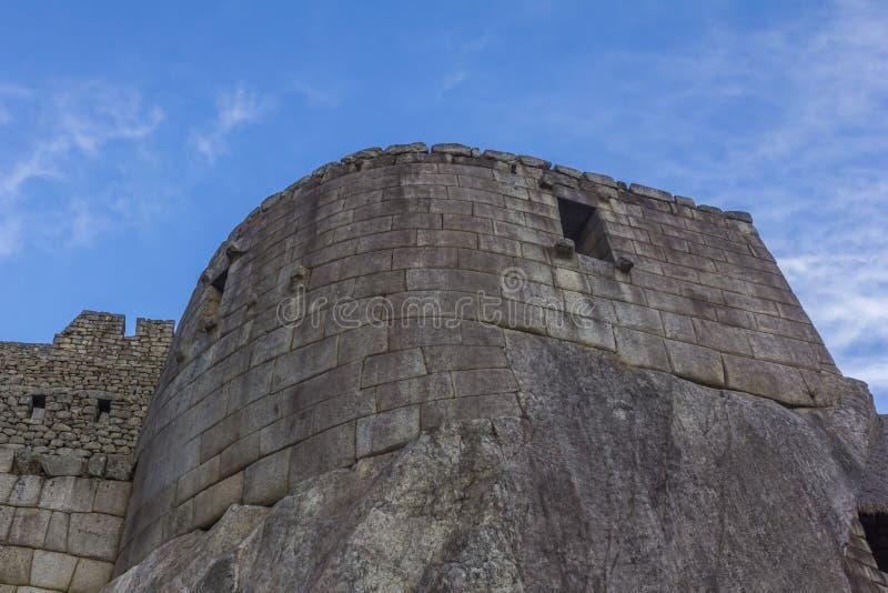 Le temple du Sun Machu Picchu ruine Cuzco Pérou photo stock