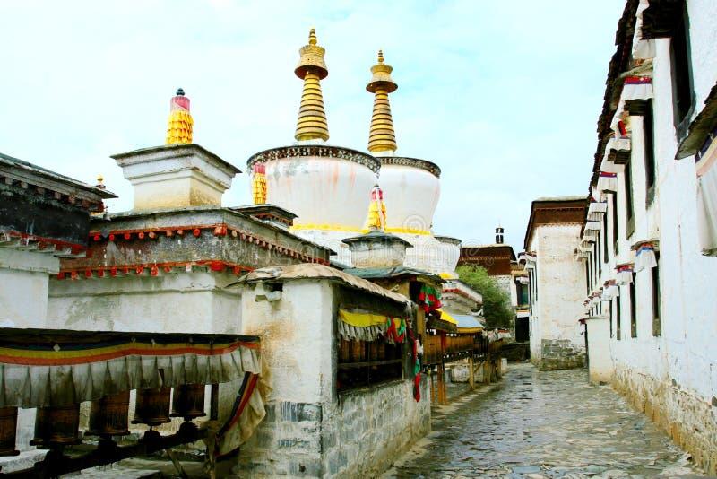 Le temple du Thibet photographie stock