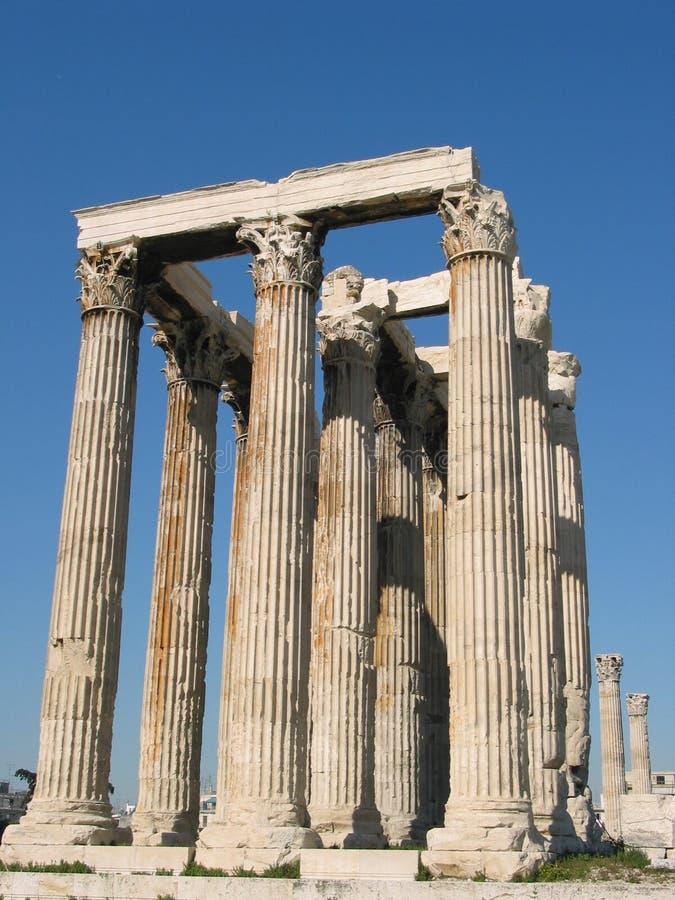 Le temple du Zeus olympique photo libre de droits