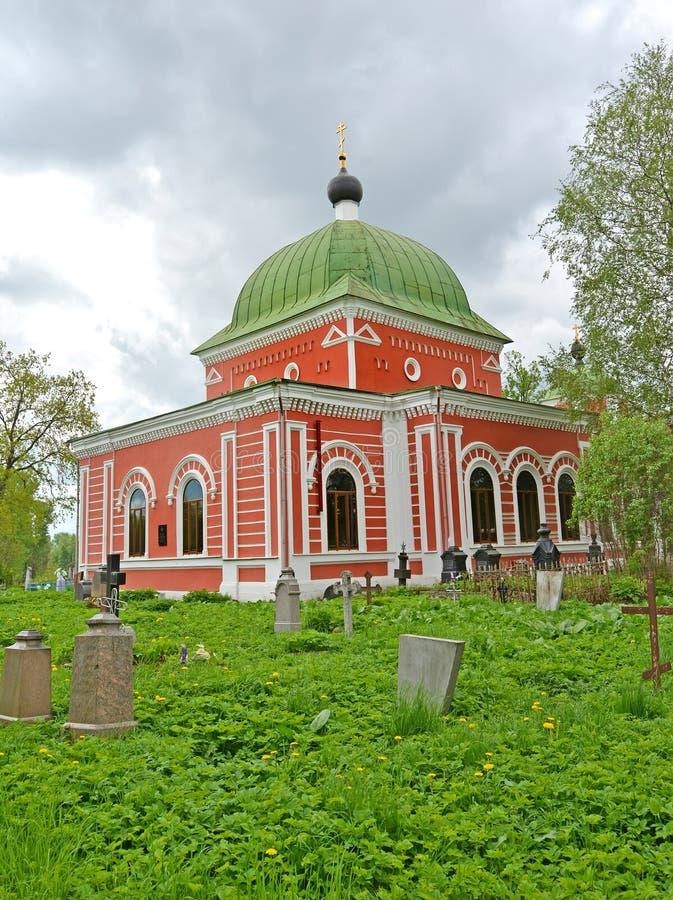 Le temple en l'honneur du grand martyre Georges le 1885 victorieux Rybinsk, région de Yaroslavl image stock
