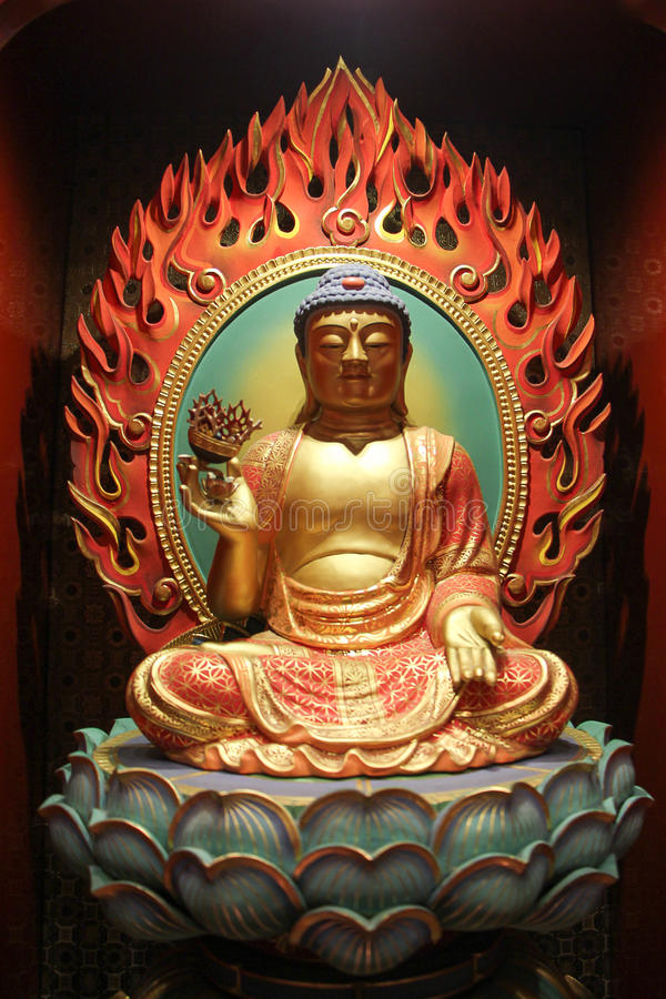 Le temple et le musée de relique de dent de Bouddha photo stock