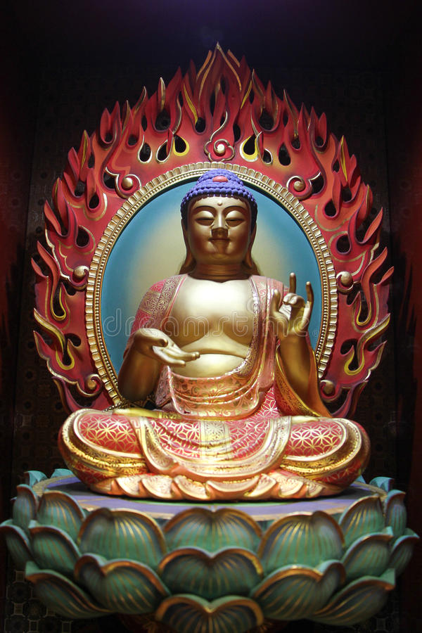 Le temple et le musée de relique de dent de Bouddha photographie stock libre de droits