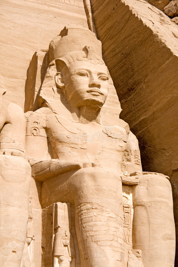 Le temple grand d'Abu Simbel photo libre de droits