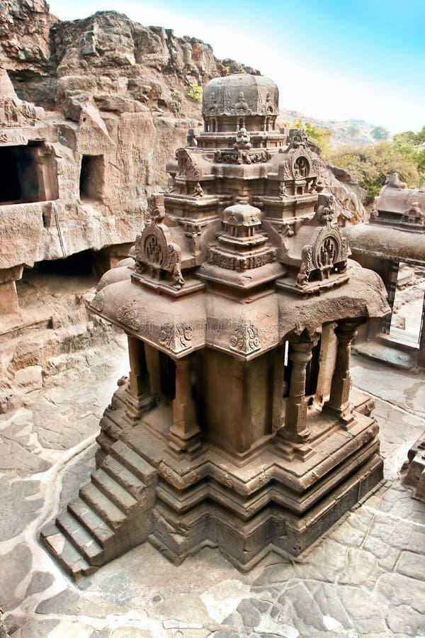 Le temple Jain. Cavernes d'Ellora. images stock