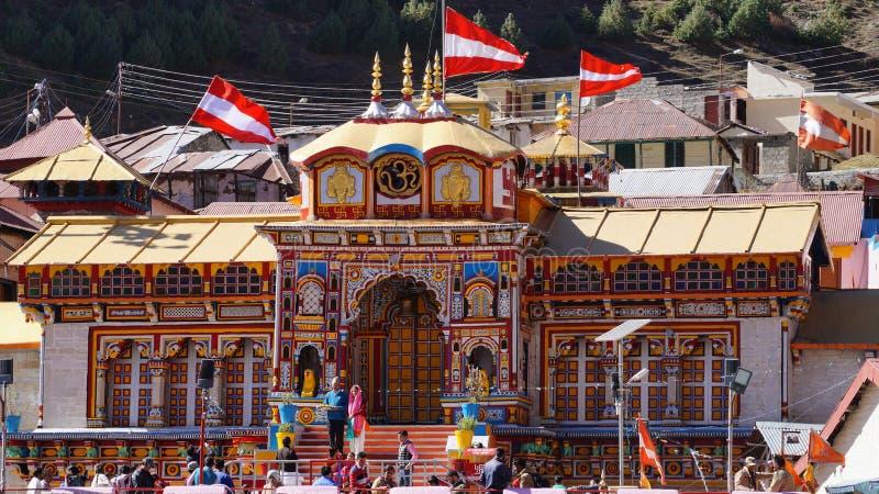 Le temple saint de Badrinath photographie stock