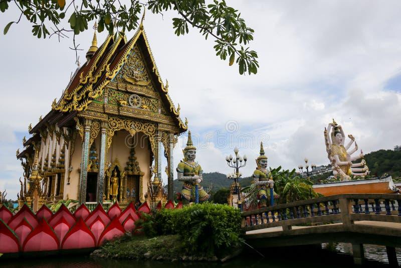 Le temple thaïlandais en Wat Plai Laem en île Thaïlande de Samui, en Th photos stock