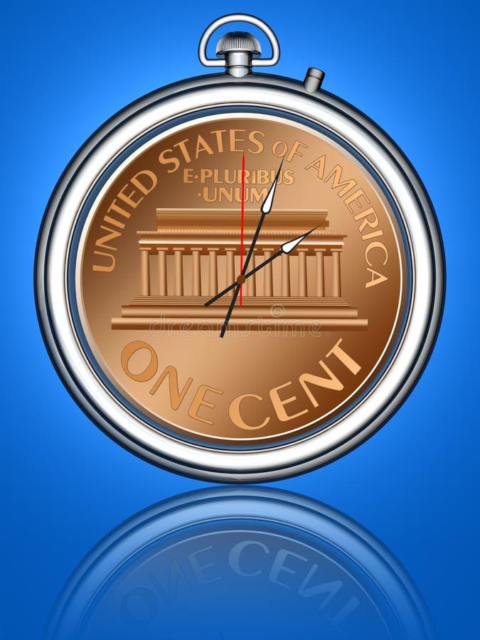 Download Le Temps, C'est De L'argent Illustration Stock - Illustration du métal, economics: 2140055
