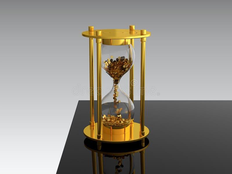 Le temps, c'est de l'argent illustration de vecteur